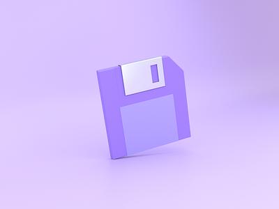 3D Floppy Disc Icon iconography save icon save floppy disk 3d ilustration 3d icon 3d icon illustration