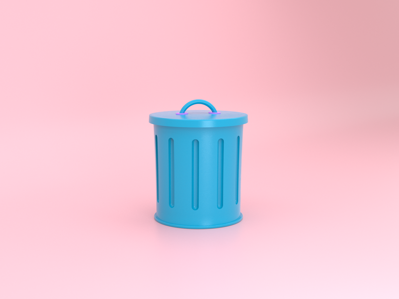 3D Trash Can Icon 3d icons trash can delete iconography 3d trashcan icon illustration visual design