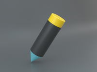 3D Edit Icon iconography 3d icon 3d pencil illustration pencil pencil icon edit icon branding ui visual design illustration