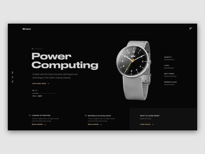 Watch Landing Page Concept