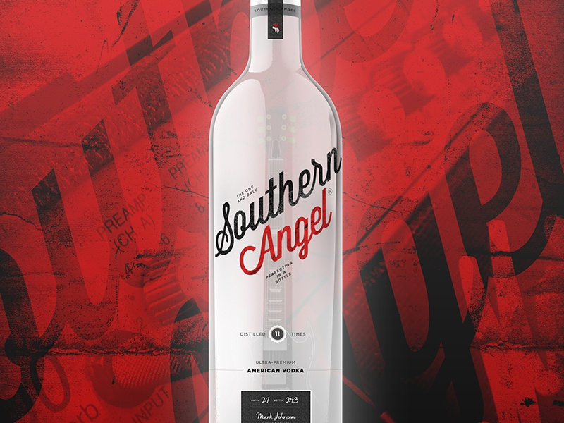 Southern Angel Vodka rock southern spirits packaging vodka