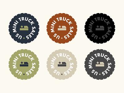 Mini Truck Logos icons typography badge logo