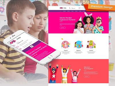 Kids Center Website Template design for website web design website design kids