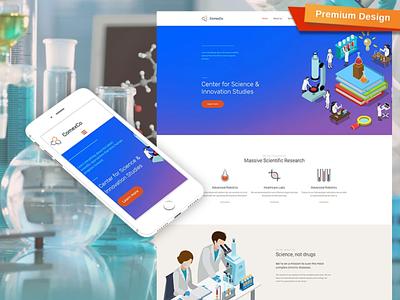 Science Lab Premium Moto CMS 3 Template responsive website design mobile website design website template design for website website design web design
