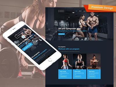 Gympower - Fitness & Bodybuilding Website Design responsive website design mobile website design website template design for website website design web design