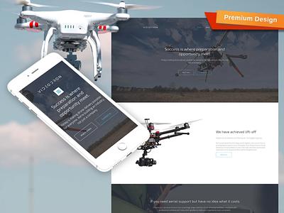 Drone Video Website Design responsive website design mobile website design website template design for website website design web design