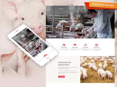 Pig Farm Responsive Website Template responsive website design mobile website design website template design for website website design web design