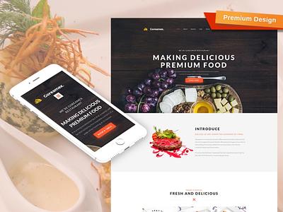 European Restaurant Premium Website Design responsive website design mobile website design website template design for website website design web design