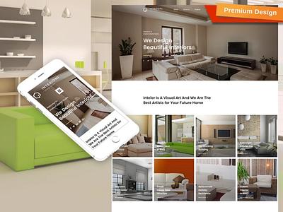Interioni Responsive Website Template mobile website design website template design for website website design web design
