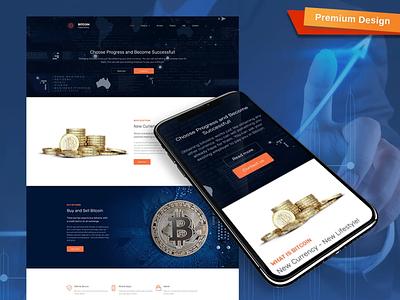 Bitcoin Responsive Website Template responsive website design mobile website design website template design for website website design web design