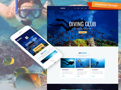Diving Web Design With Marvelous Graphics mobile website design website template design for website website design web design