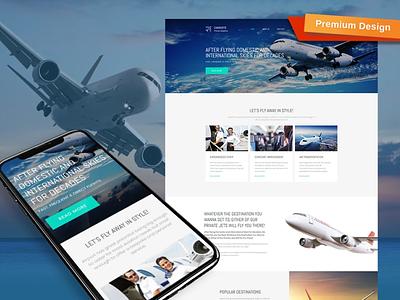 Private Airline Premium Template mobile website design website template design for website website design web design