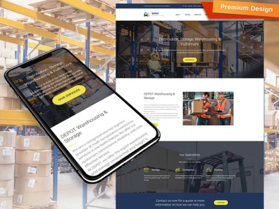 Warehouse Website Template for Logistic Companies logistic companie warehouse website responsive website design mobile website design website template design for website website design web design