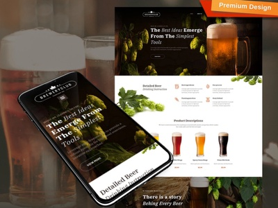 Beer Website Design for Craft Beer Pubs and Breweries breweries craft beer pubs beer website responsive website design mobile website design website template design for website website design web design
