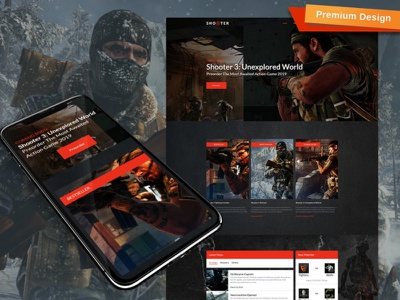 Gaming Web Template for Action Games gaming website template for gaming website action games gaming web template responsive website design mobile website design website template design for website website design web design