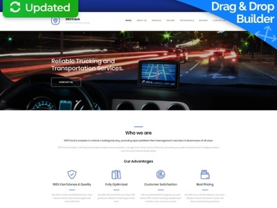 GPS Tracking Website Template for Vehicle Tracking Service vehicle service gps service vehicle tracking gps tracking responsive website design mobile website design website template design for website website design web design