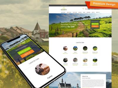 Real Estate Broker Website Template for Land Brokerage