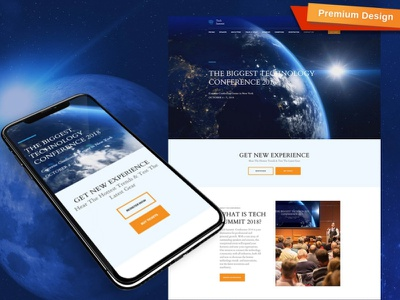 Conference Website Template for Technology Summit technology website technology summit conference website responsive website design mobile website design website template design for website website design web design
