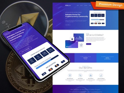 ICO Website Template for Cryptocurrency Websites ico cryptocurrency website cryptocurrency responsive website design mobile website design website template design for website website design web design