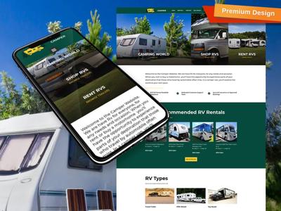 RV Website Template for Rental & Dealer Travel Trailers Websites