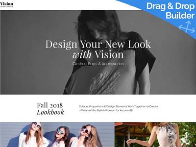 Lookbook Website Template for Fashion Sites fashion lookbook fashion sites lookbook website responsive website design mobile website design website template design for website website design web design