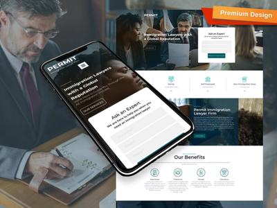 Immigration Lawyer Website Design for Visa Attorney