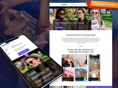 Tanning Salon Website Template for Solarium Studio
