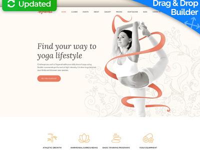 Yoga Website Template for Yoga Classes Center yoga classes center responsive website design mobile website design website template design for website website design web design yoga
