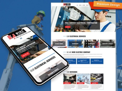 Electrical Company Website Template for Contractors contractors electrical company website electrical company responsive website design mobile website design website template design for website website design web design