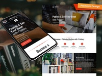Book Publishing Website Template for Publisher Company