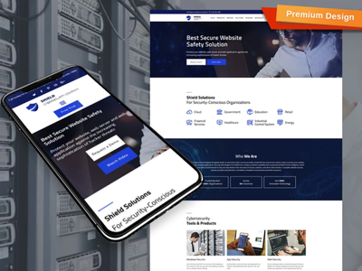 Cyber Security Website Template for Internet Company security company security website internet company cyber security responsive website design mobile website design website template design for website website design web design