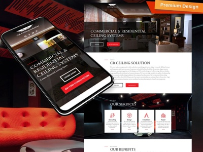 Stretch Ceiling Website Template for Home Interior Services interior services home interior services stretch ceiling website responsive website design mobile website design website template design for website website design web design
