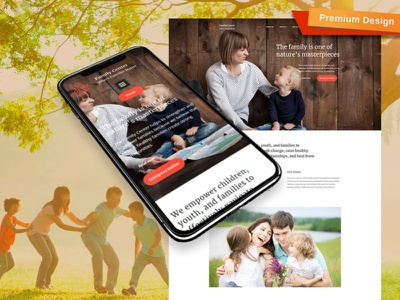 Counseling Website Template for Family Center counseling website responsive website design mobile website design website template design for website website design web design