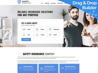 Insurance Website Template for Business Agency business agency insurance website responsive website design mobile website design website template design for website website design web design