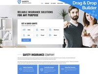 Insurance Website Template for Business Agency