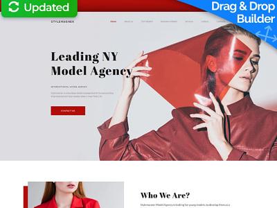 Model Agency Website Template for Modeling Site model agency modeling site modeling site responsive website design mobile website design website template design for website website design web design