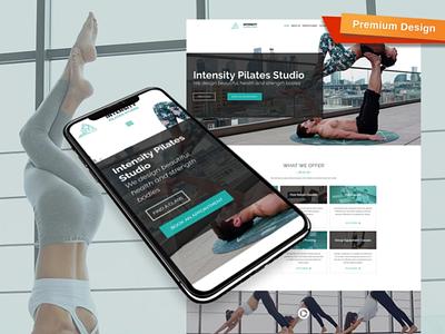 Pilates Website Template for Sport Studio sport studio pilates website pilates website responsive website design mobile website design website template design for website website design web design