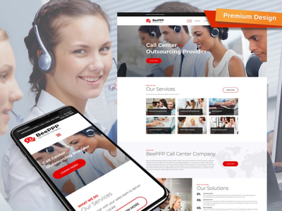 Call Center Website Design Template responsive website design mobile website design website template design for website website design web design