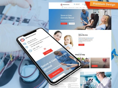 Blood Donation Website Template for Blood Bank blood bank blood donation responsive website design mobile website design website template design for website website design web design