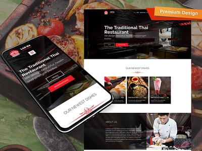 Thai Restaurant Website Template responsive website design mobile website design website template design for website website design web design