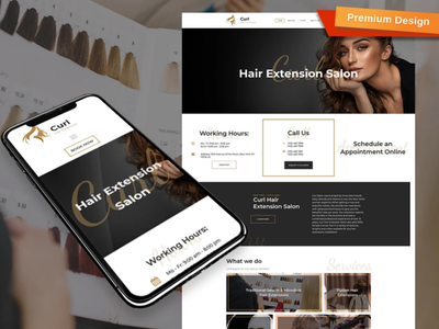 Hair Extension Website Template for Beauty Site
