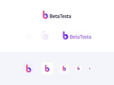 BetaTesta - Logo minimal website app typography flat logo design branding