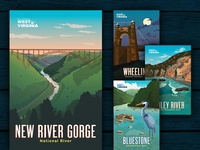 WV Tourism - National Parks Posters