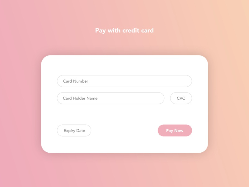#DailyUI #002 - Credit Card Checkout checkout card credit card dailyui ux ui