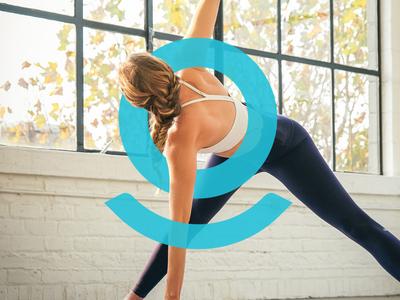 Pivot Yoga Brand ui teal packaging box guidelines brand purple blue motion capture app yoga