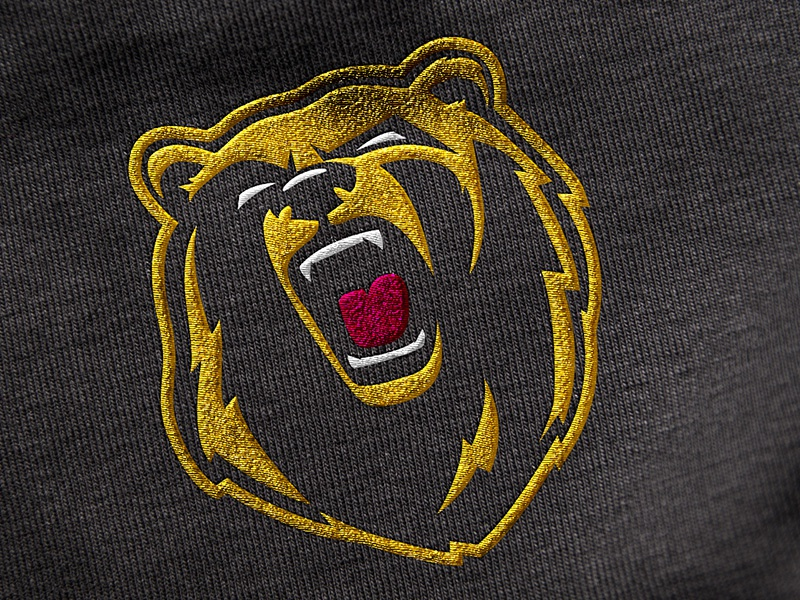 Oakland Bears Logo bear sports hockey logo yellow mockup