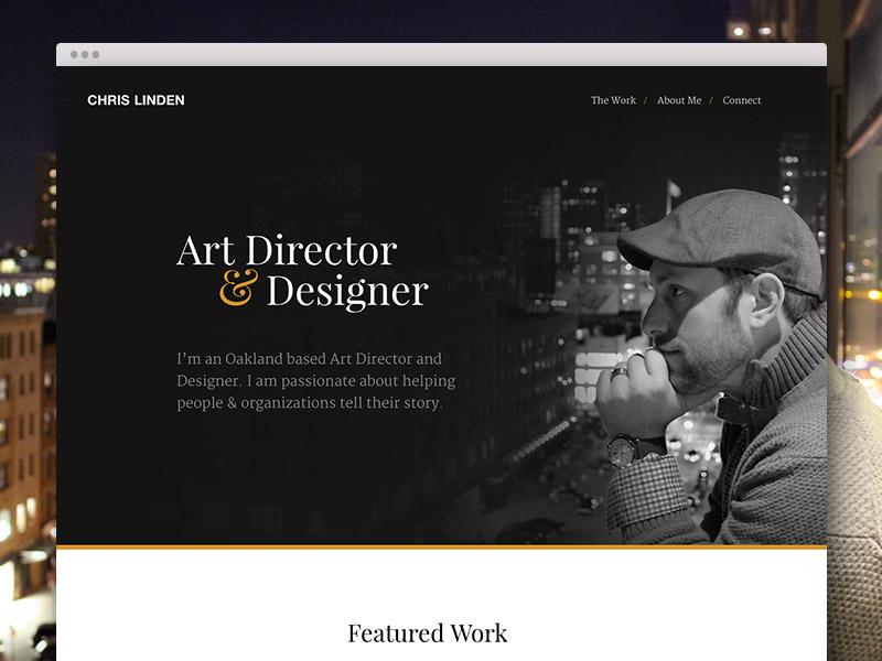 Portfolio Update black and white hero website personal work city dark portfolio