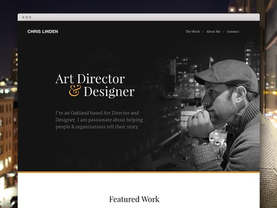 Portfolio Update black and white hero website personal work city dark portfolio