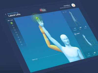 PT App avatar yellow blue medical doctor 3d motion capture ipad physical therapy