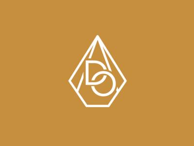 Dream Oilers oils diamond drop identity vector monogram design beauty gold logo
